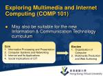 exploring multimedia and internet computing comp 101