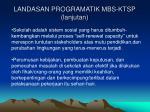 landasan programatik mbs ktsp lanjutan