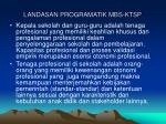 landasan programatik mbs ktsp