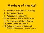 members of the klg9