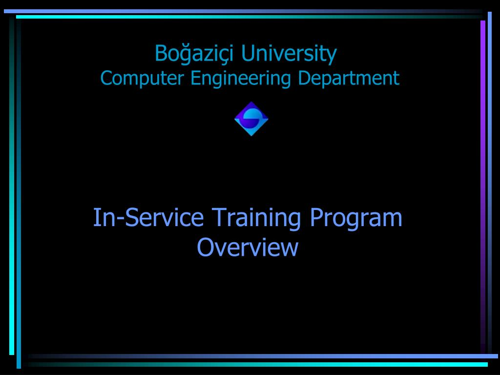 in service training program overview l.