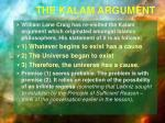 the kalam argument