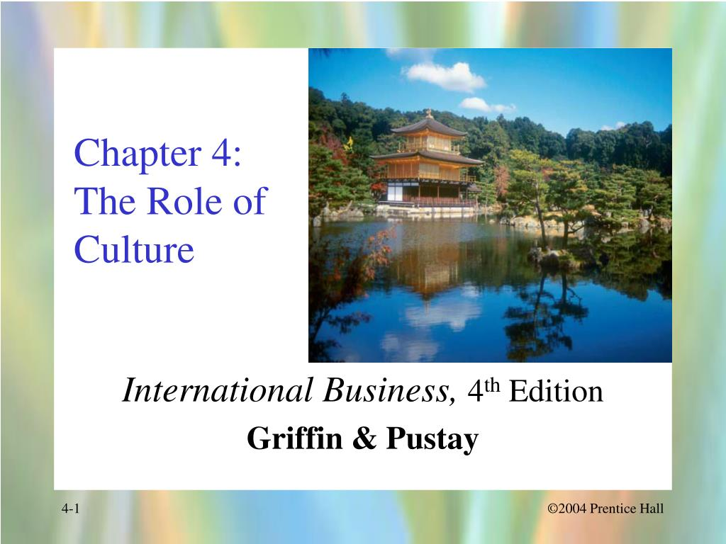 chapter 4 the role of culture l.