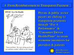 4 from reimbursement to transparent payment