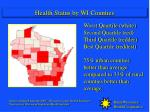 health status by wi counties