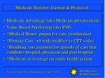 medicare reform current proposed