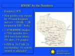 rwhc by the numbers