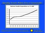 spending trend is widely seen as unsustainable