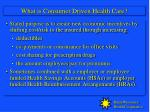 what is consumer driven health care