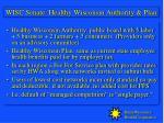 wisc senate healthy wisconsin authority plan