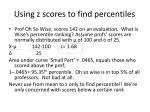 using z scores to find percentiles