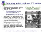 preliminary test of small area soi sensors9