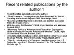 recent related publications by the author 1
