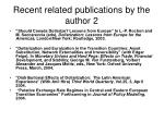 recent related publications by the author 2