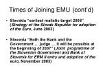 times of joining emu cont d9