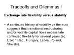 tradeoffs and dilemmas 1