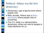 political athens was the first democracy