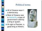 political terms