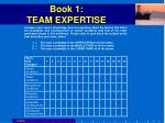 book 1 team expertise