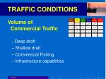 traffic conditions