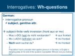 interrogatives wh questions12