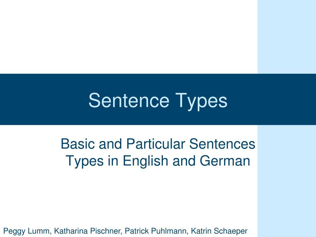 sentence types l.