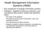 health management information systems hmis