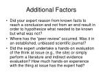 additional factors13