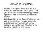 advice to litigators