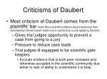 criticisms of daubert