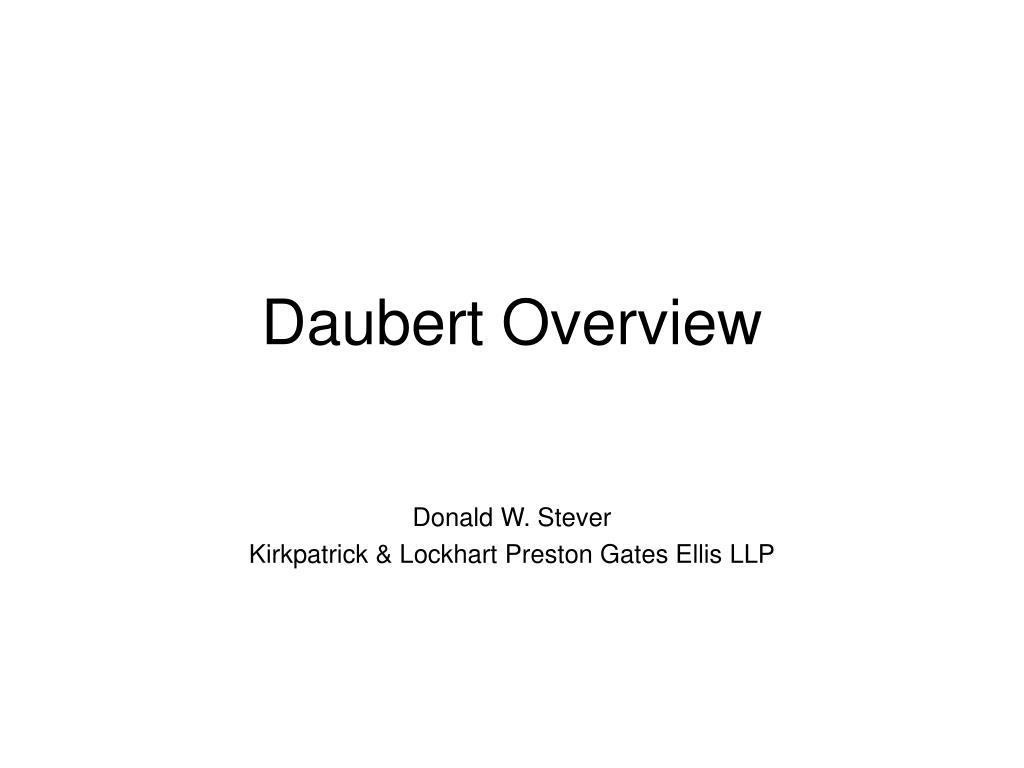 daubert overview l.