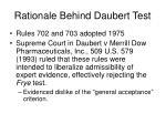 rationale behind daubert test