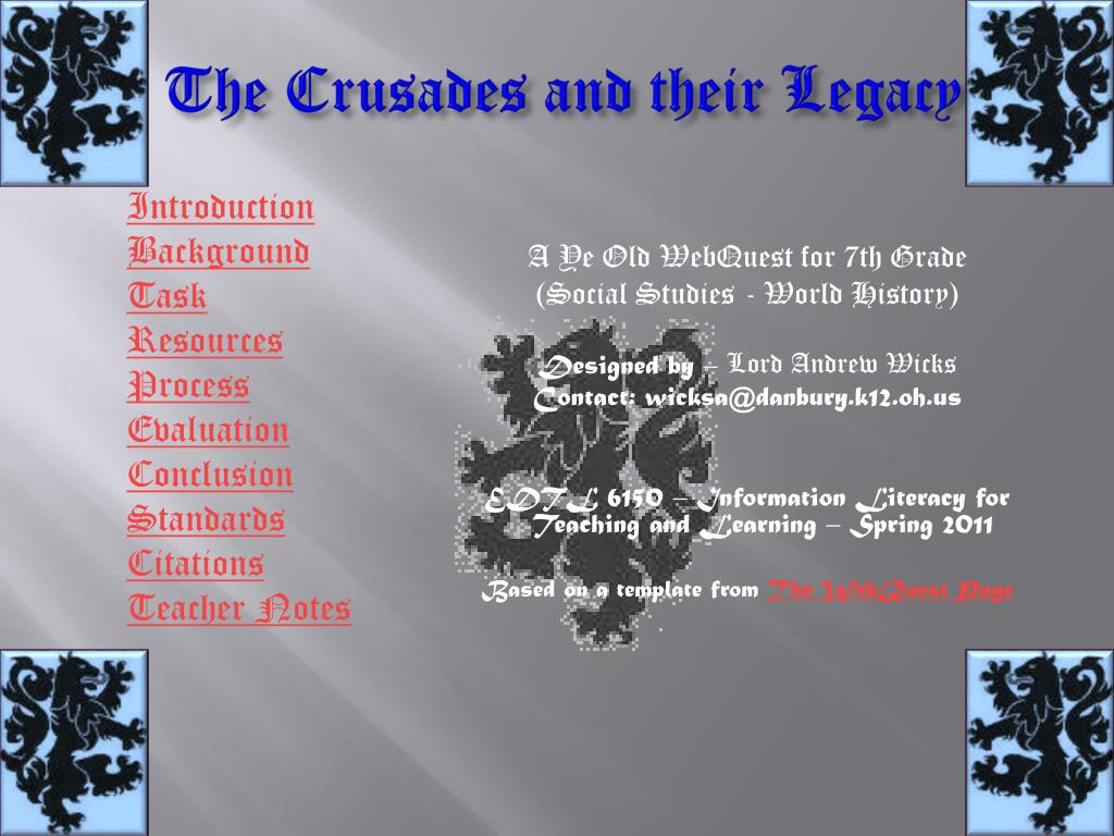the crusades and their legacy l.