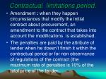 contractual limitations period