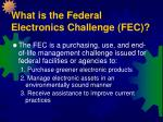 what is the federal electronics challenge fec