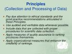 principles collection and processing of data