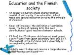 education and the finnish society