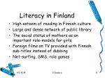 literacy in finland