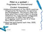 pisa in a nutshell programme for international student assessment