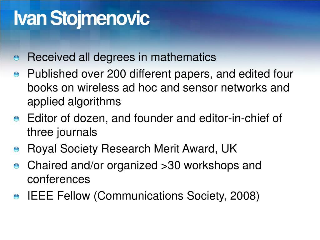 Ivan Stojmenovic