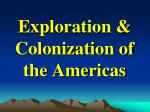 exploration colonization of the americas