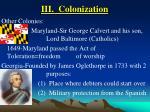 iii colonization19