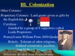 iii colonization20
