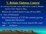 v britain tightens control