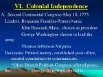 vi colonial independence