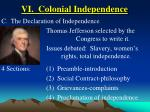 vi colonial independence40