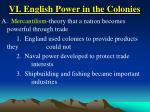 vi english power in the colonies