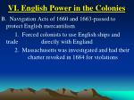 vi english power in the colonies27