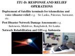 itu d response and relief operations
