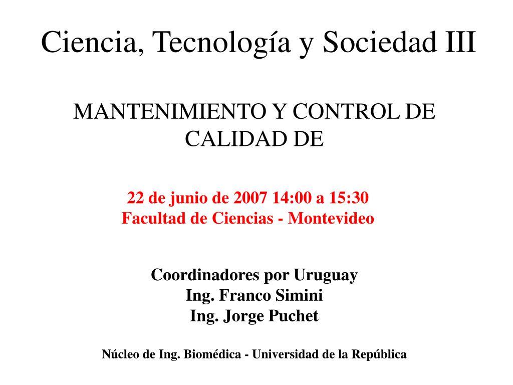 ciencia tecnolog a y sociedad iii l.